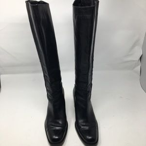 Charles David by Nathalie M Black Leather Boots 9